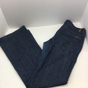 7 For All Mankind DOJO Jeans Rhinetone Pockets 30
